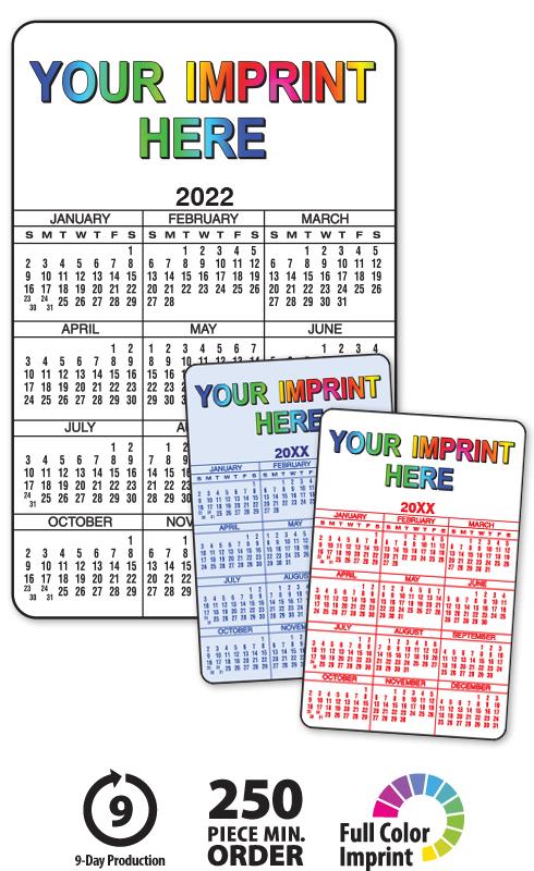 "2020 Wallet Calendars | 3.5"" X 2.25"" Customized Card Calendar"
