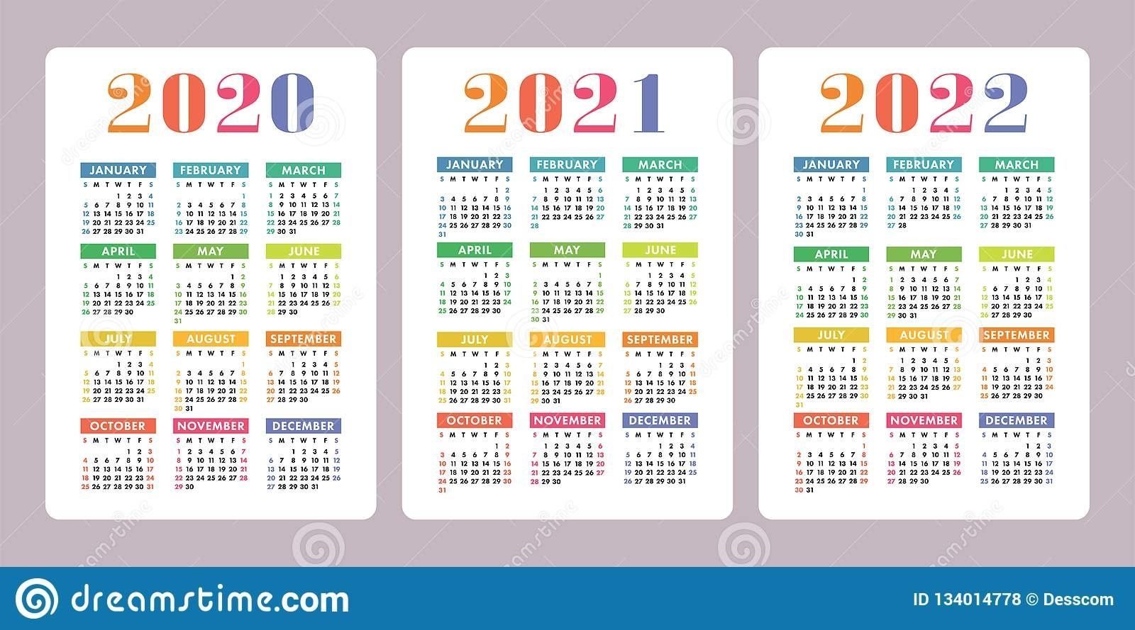 2021 2022 2023 Thrre Year Calendar Ireland | Ten Free