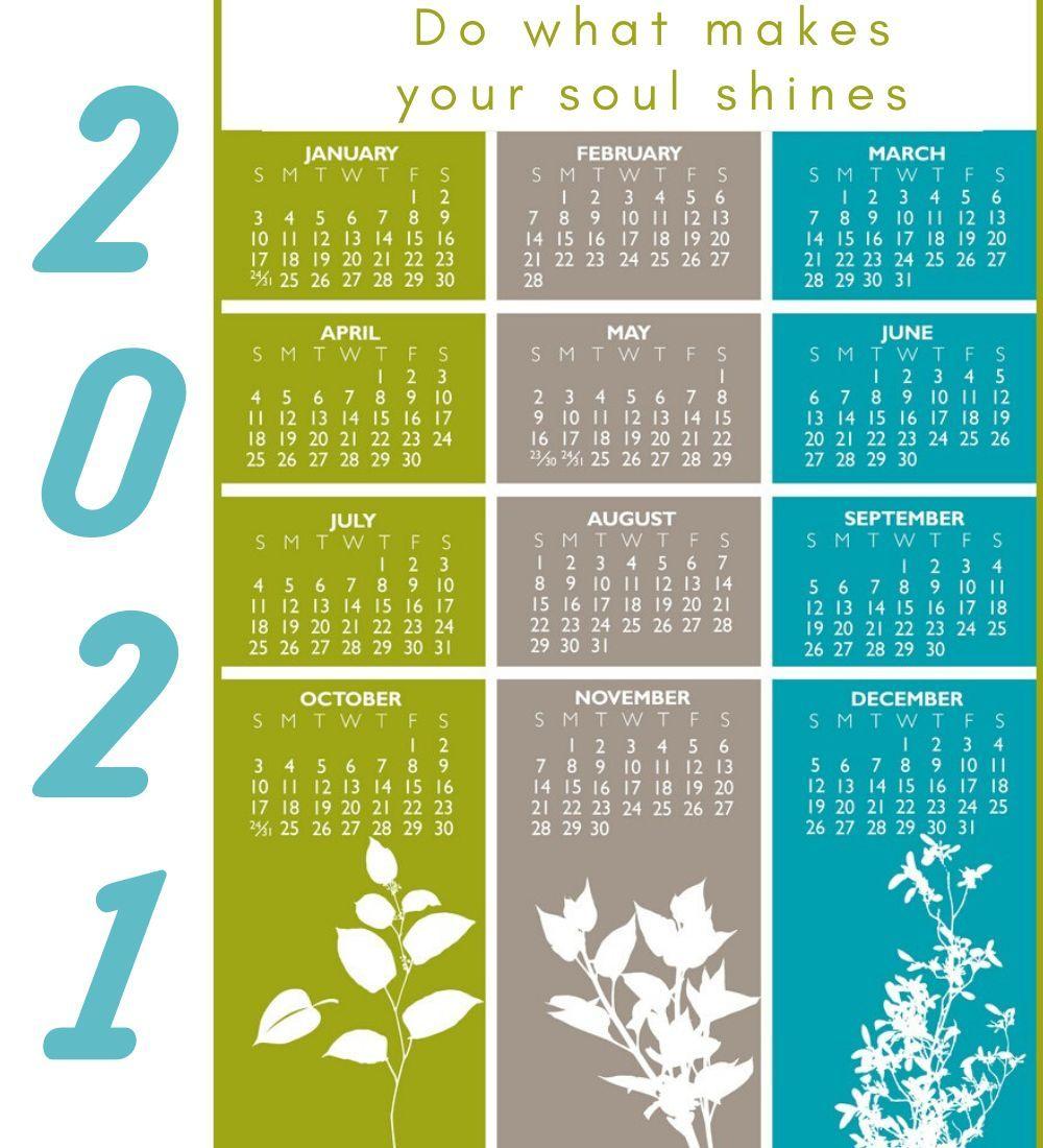 2021 Calendar With Motivational Quotes | 2021 Calendar