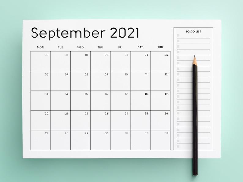 2021 Printable Calendar Sunday & Monday Start 2021 Monthly