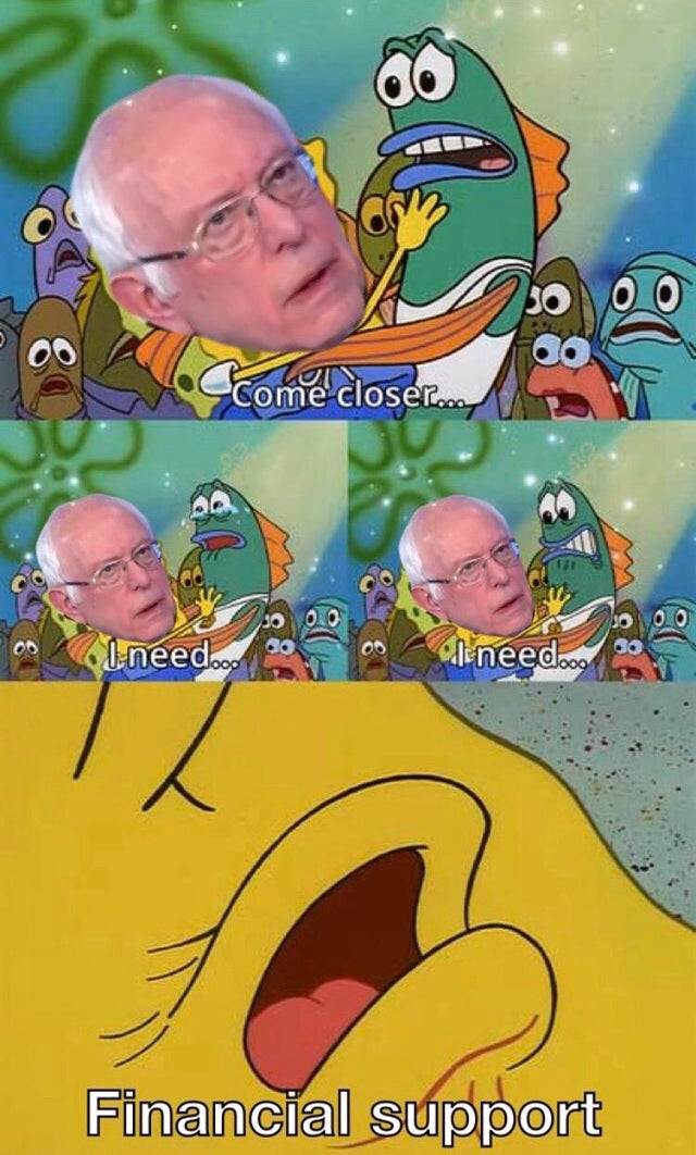 """21 """"Asking For Your Financial Support"""" Bernie Sanders Memes"""
