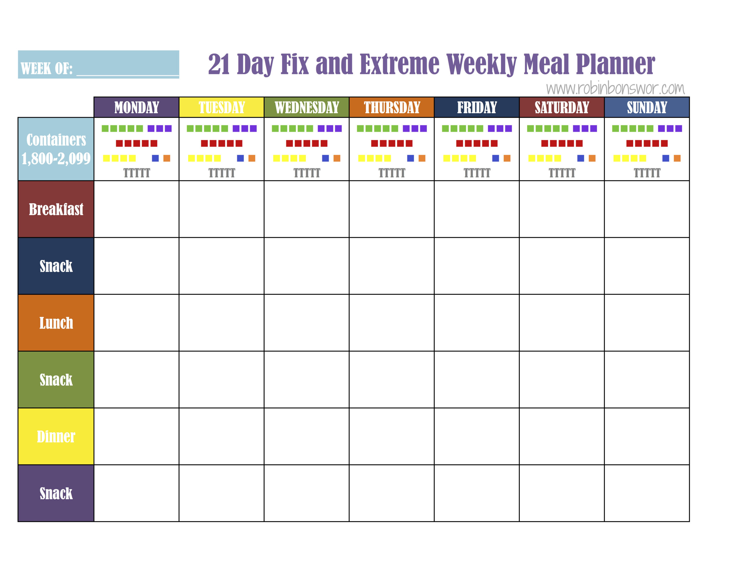 21 Day Fix Meal Plan Tools   Get Fit. Lose Weight. Feel