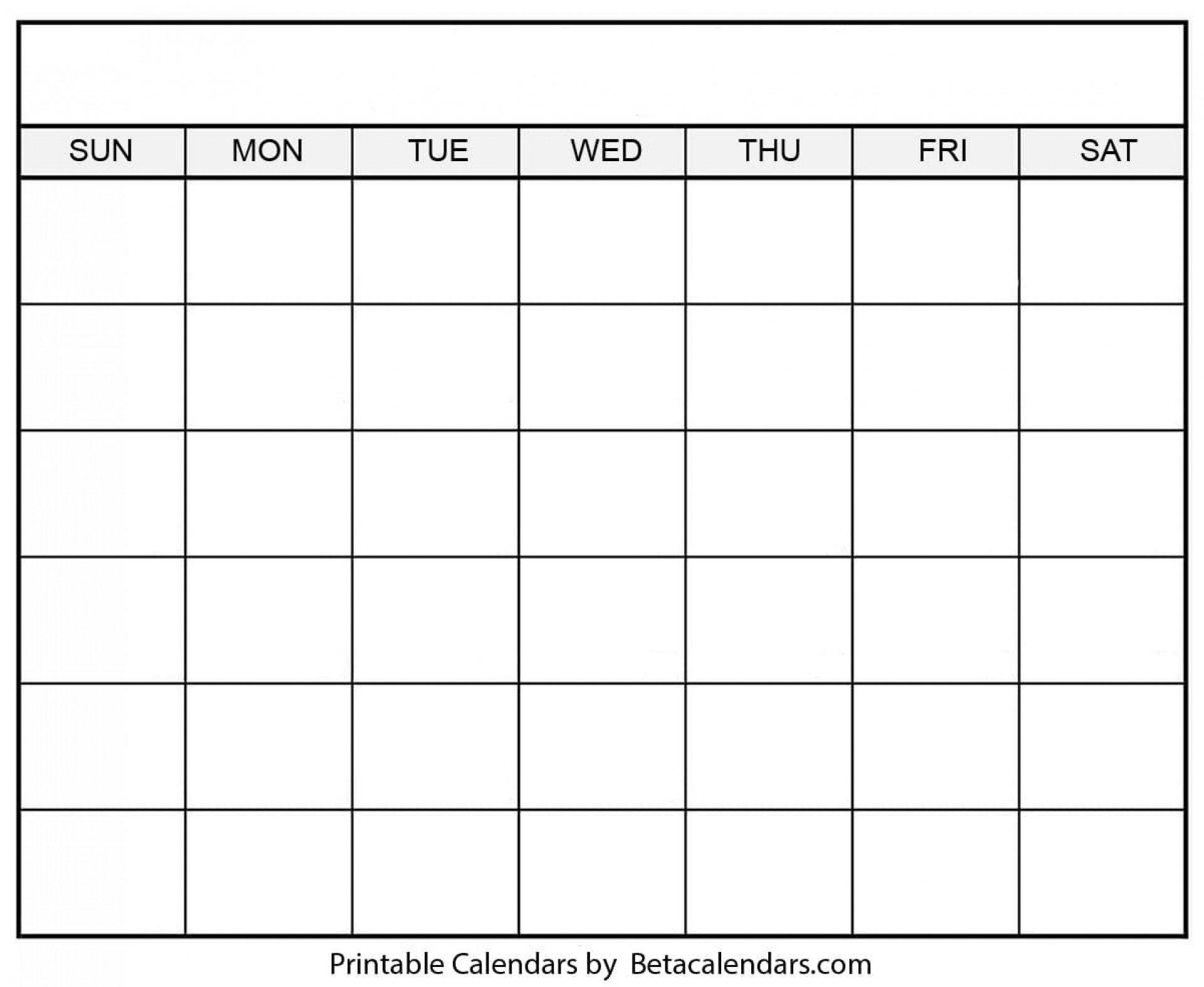 30 Day Blank Printable :-Free Calendar Template