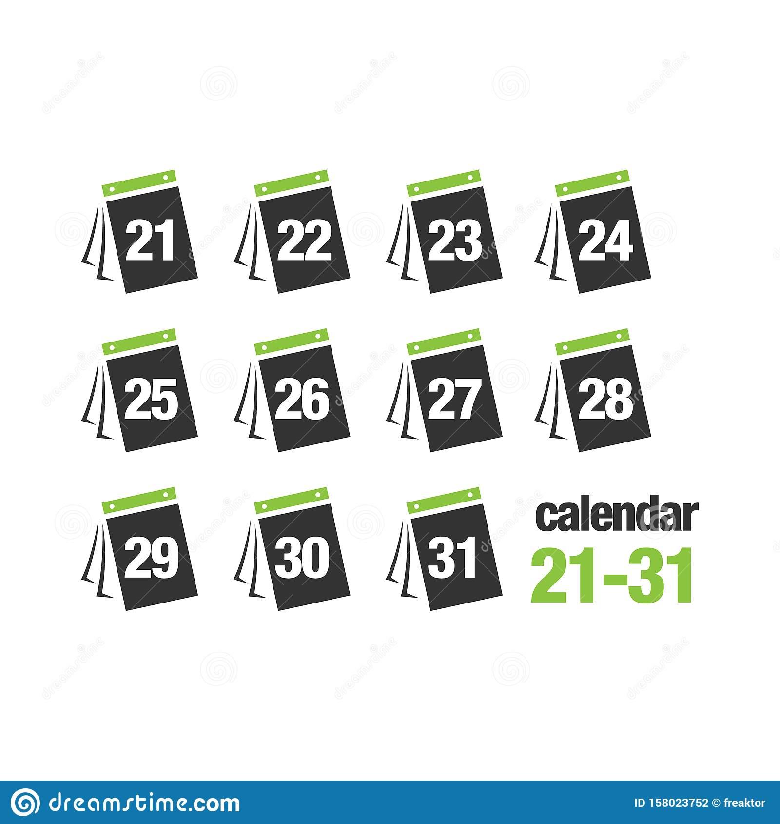 30 Day Calendar Icon Vector Creative Illustration Concept