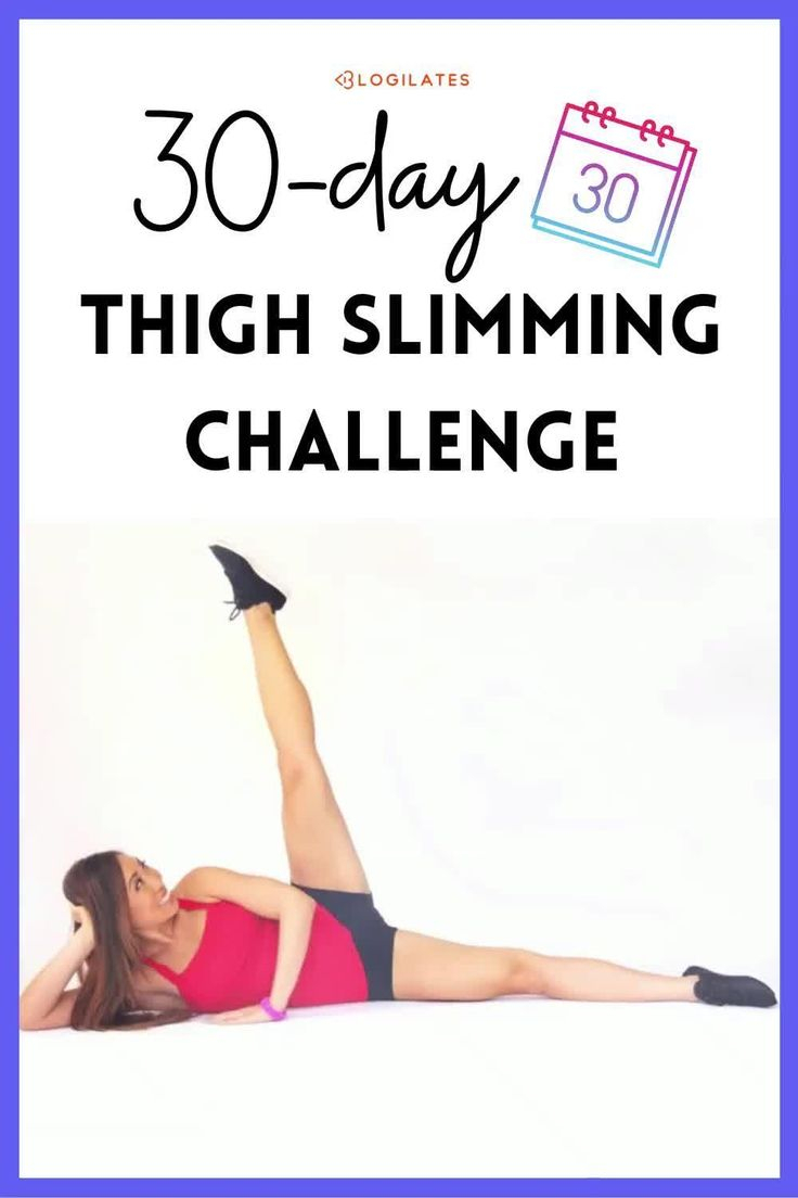 30 Day Thigh Slimming Challenge! - Blogilates [Video