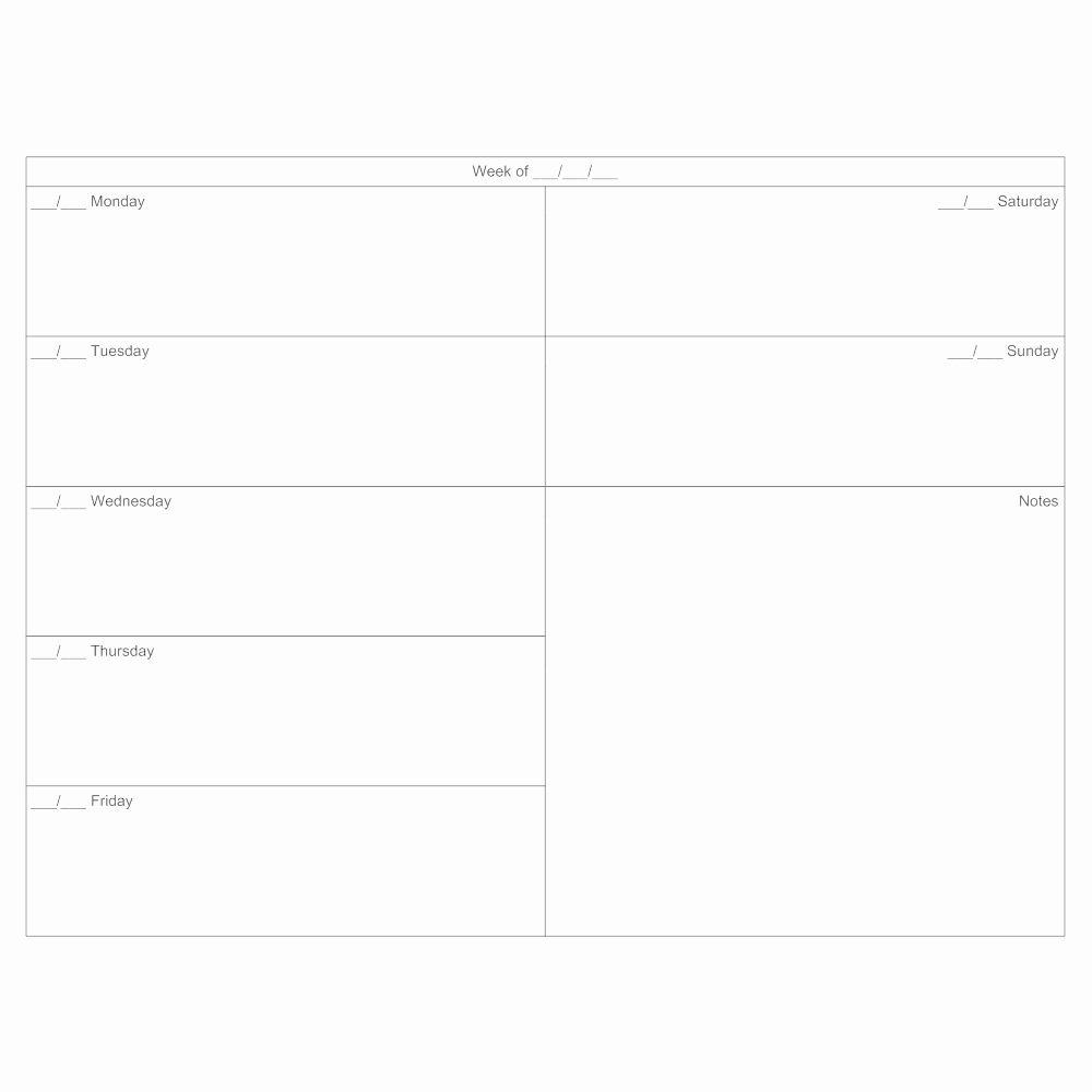 7 Day Calendar Template Elegant 7 Day Calendar Template In