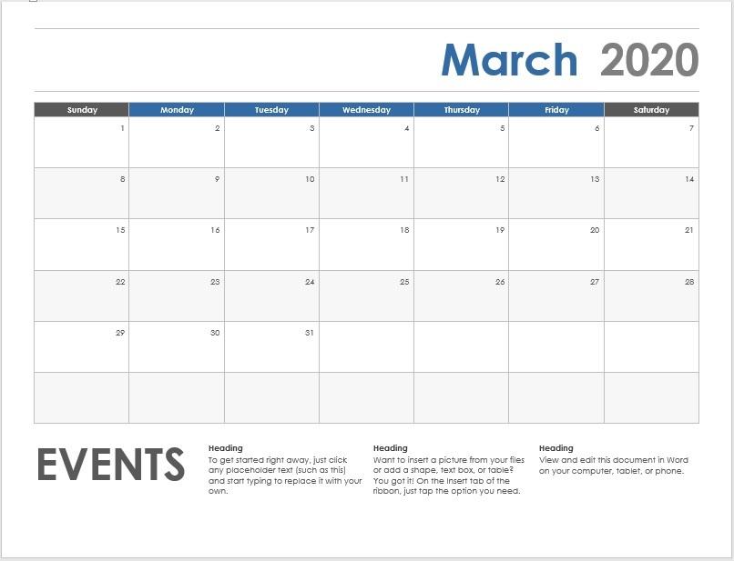 9 Free Calendar Templates (High Quality) - Word Templates