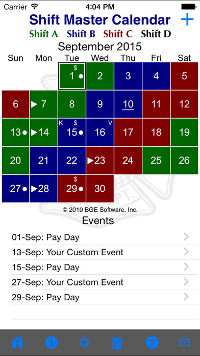 App Shopper: Shift Master Shift Calendar (Productivity)