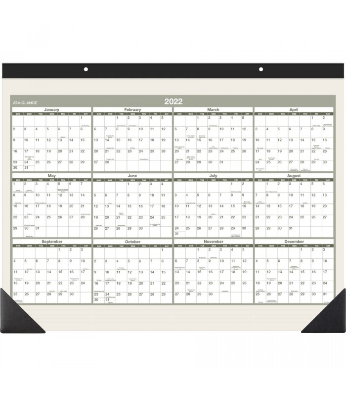 At-A-Glance® 2021 Recycled Monthly Desk Pad Wall Calendar