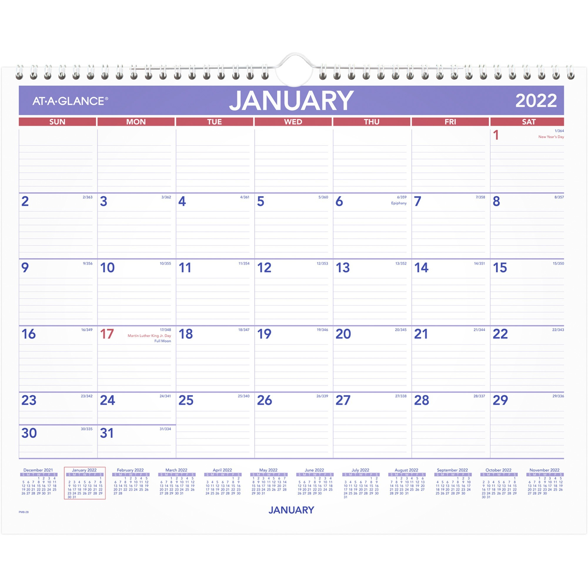 At-A-Glance Monthly Wall Calendar - Julian Dates - Monthly