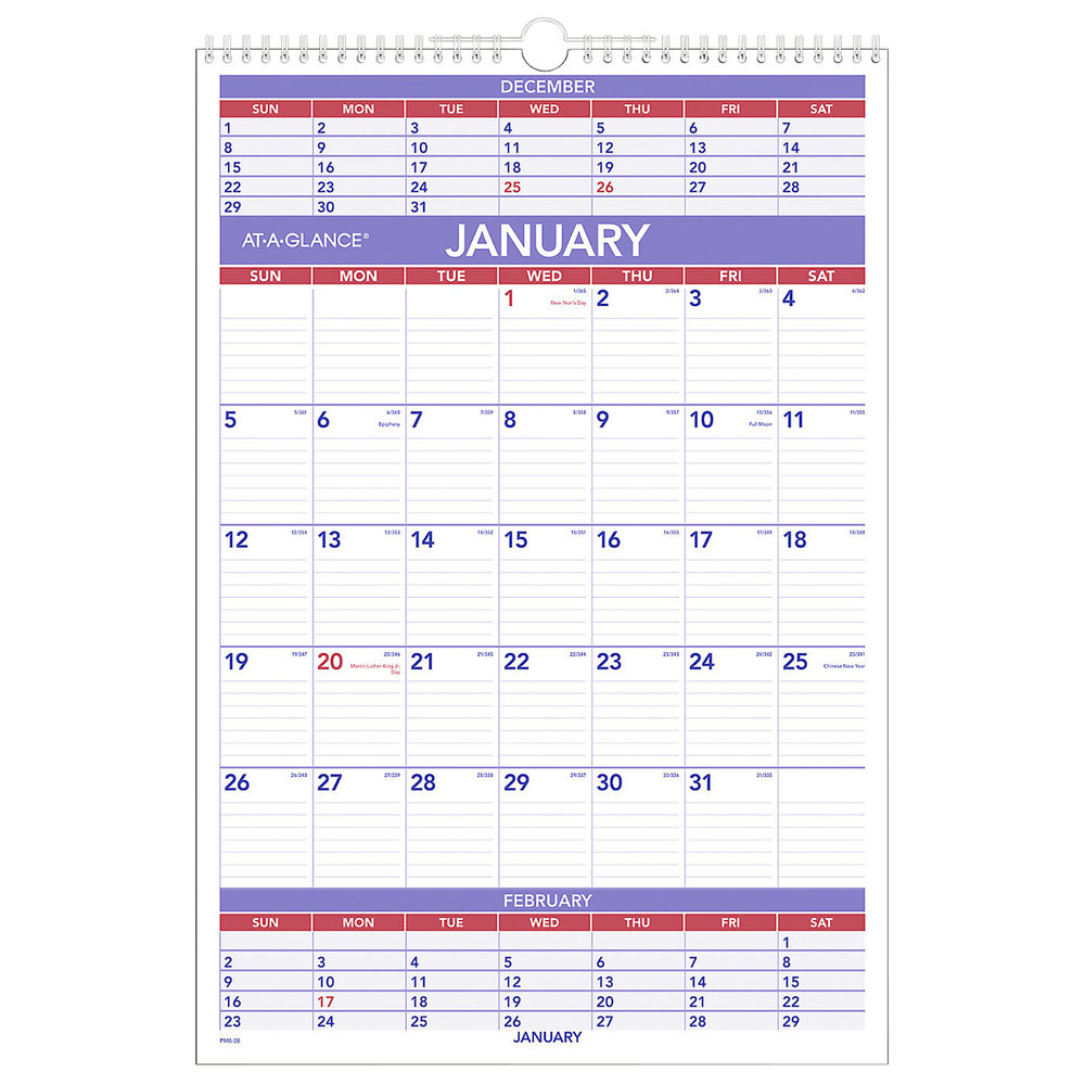 """At-A-Glance Pm628 15 1/2"""" X 22 3/4"""" 3-Month Reference"""