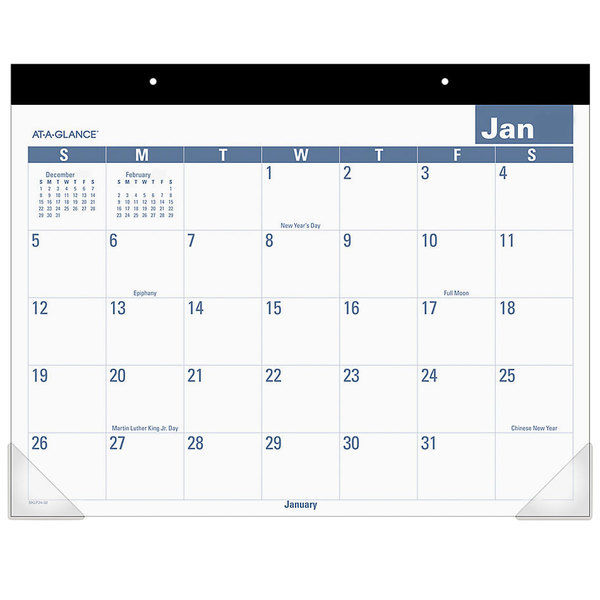 """At-A-Glance Sklp2432 22"""" X 17"""" Easy-To-Read Monthly"""