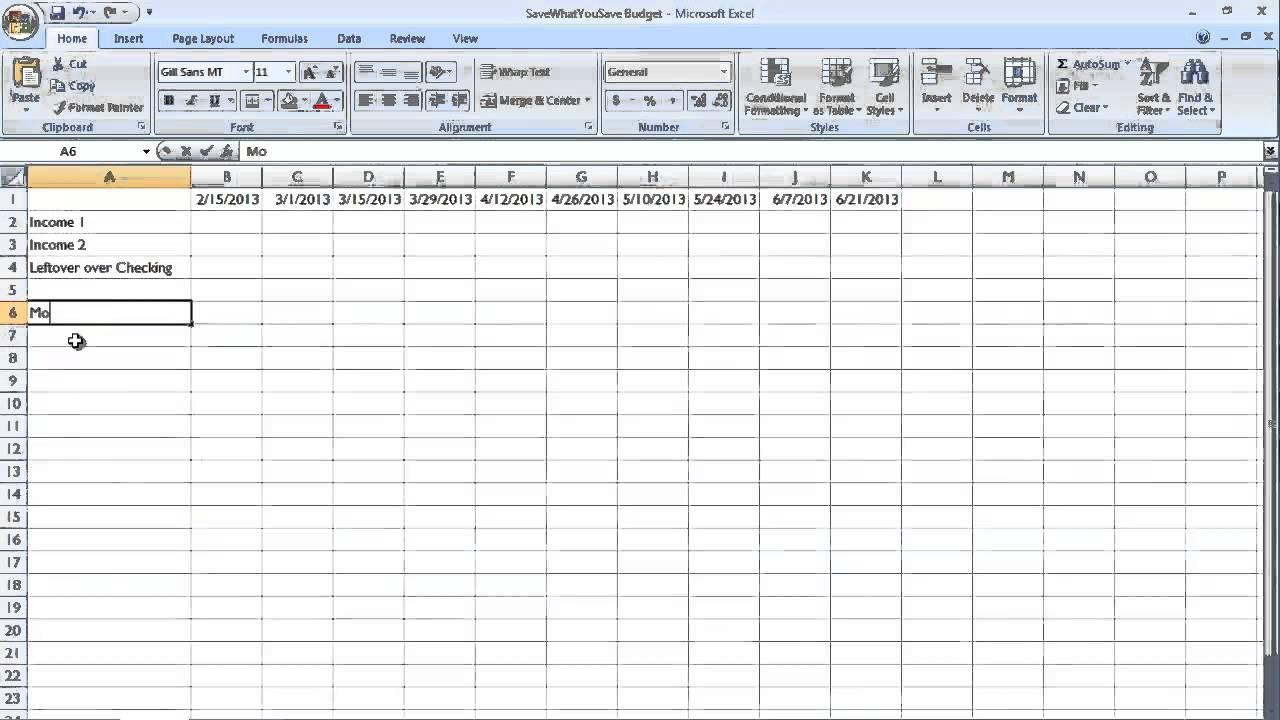 Bill Payment Schedule Template   Shatterlion