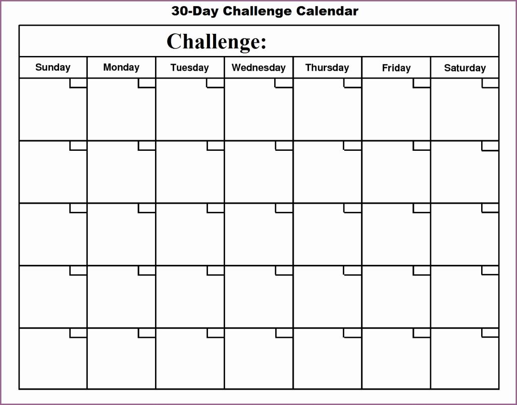 Blank 30 Day Calendar Printable - Calendar Templates