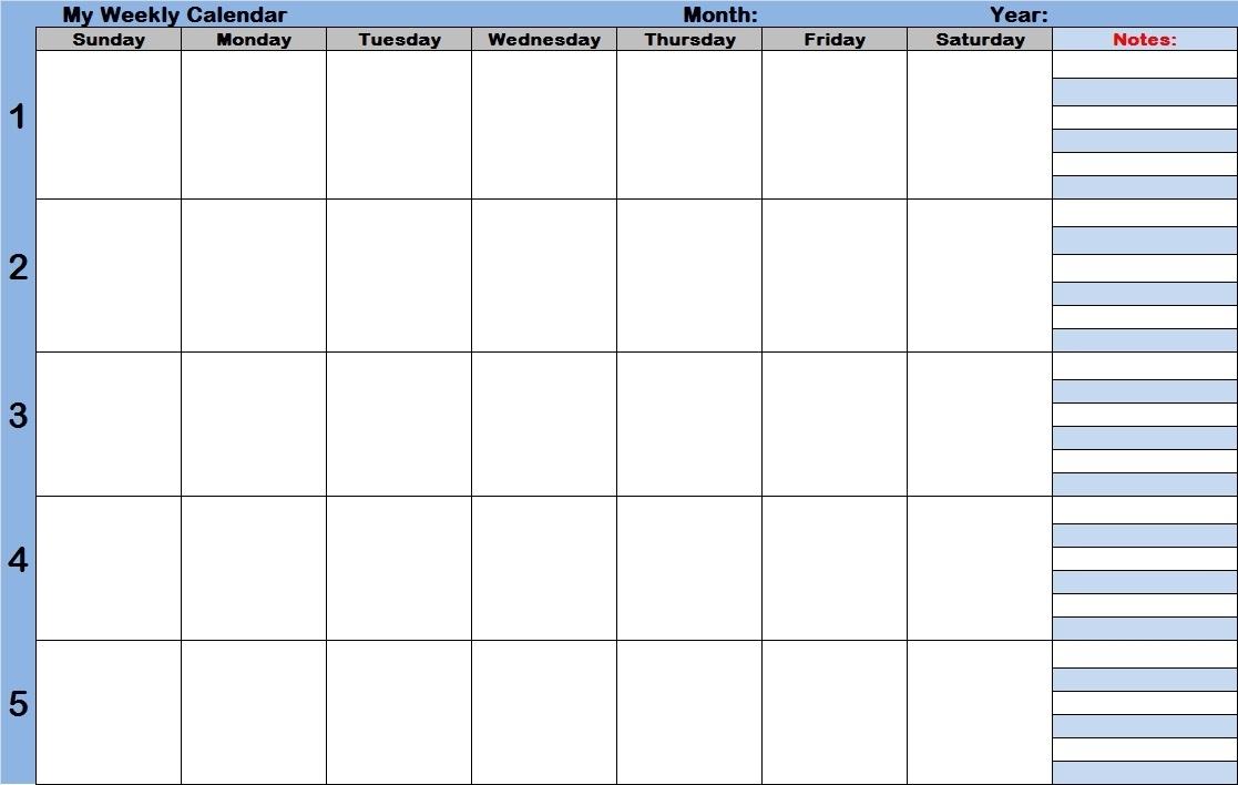 Blank Calendar With Time Slots - Calendar Inspiration Design