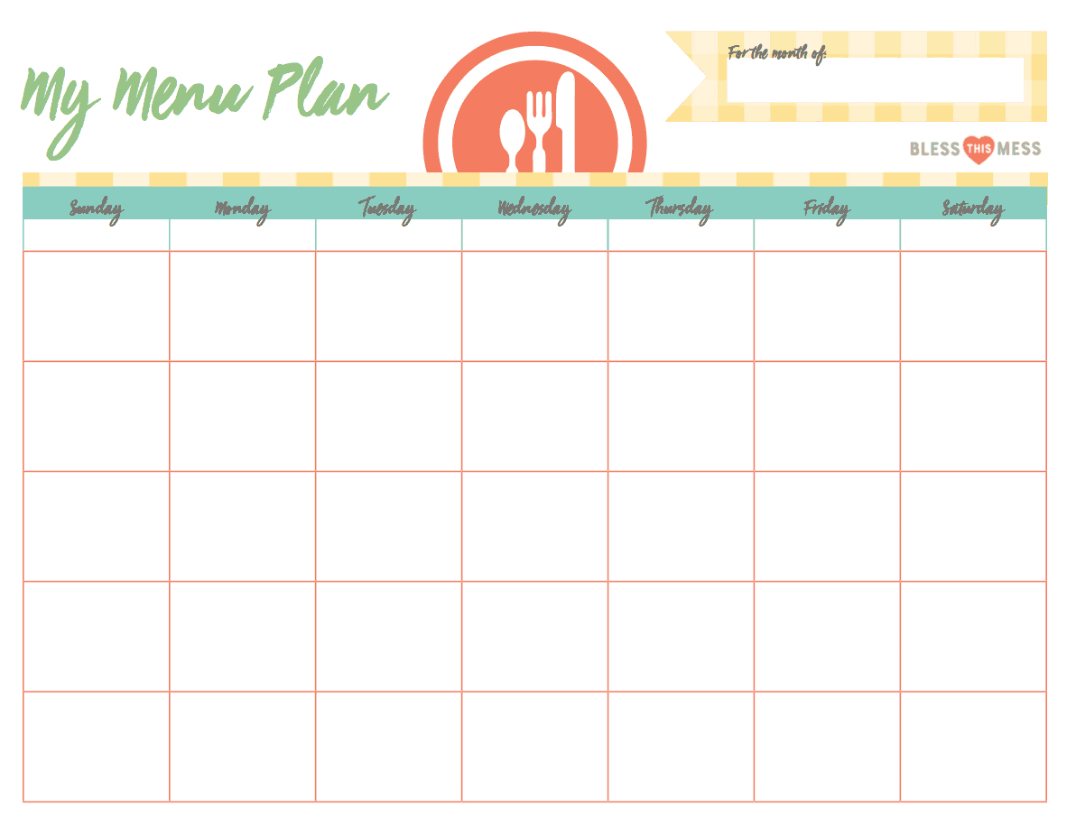 Busy Moms: Basic Meal Planning   Bless This Mess Please