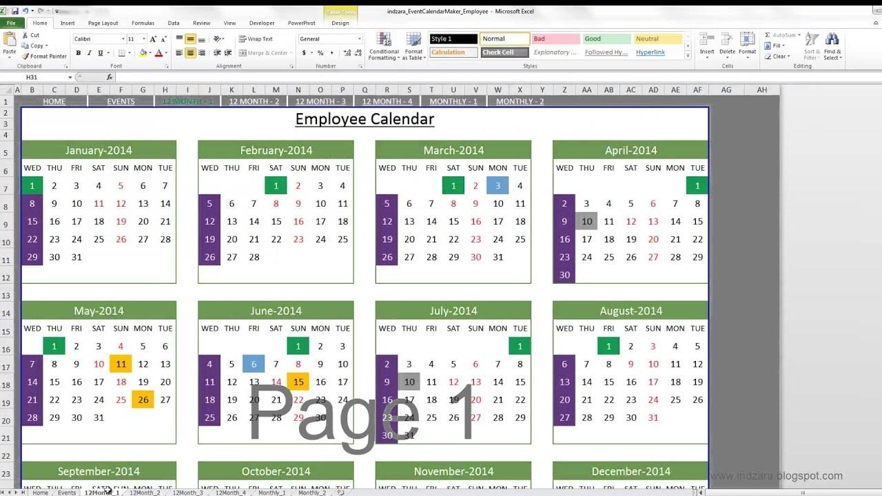 Calendar Of Events Template   Ten Free Printable Calendar