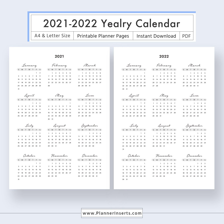 Calendar Week At A Glance Template 2021 - Calendar