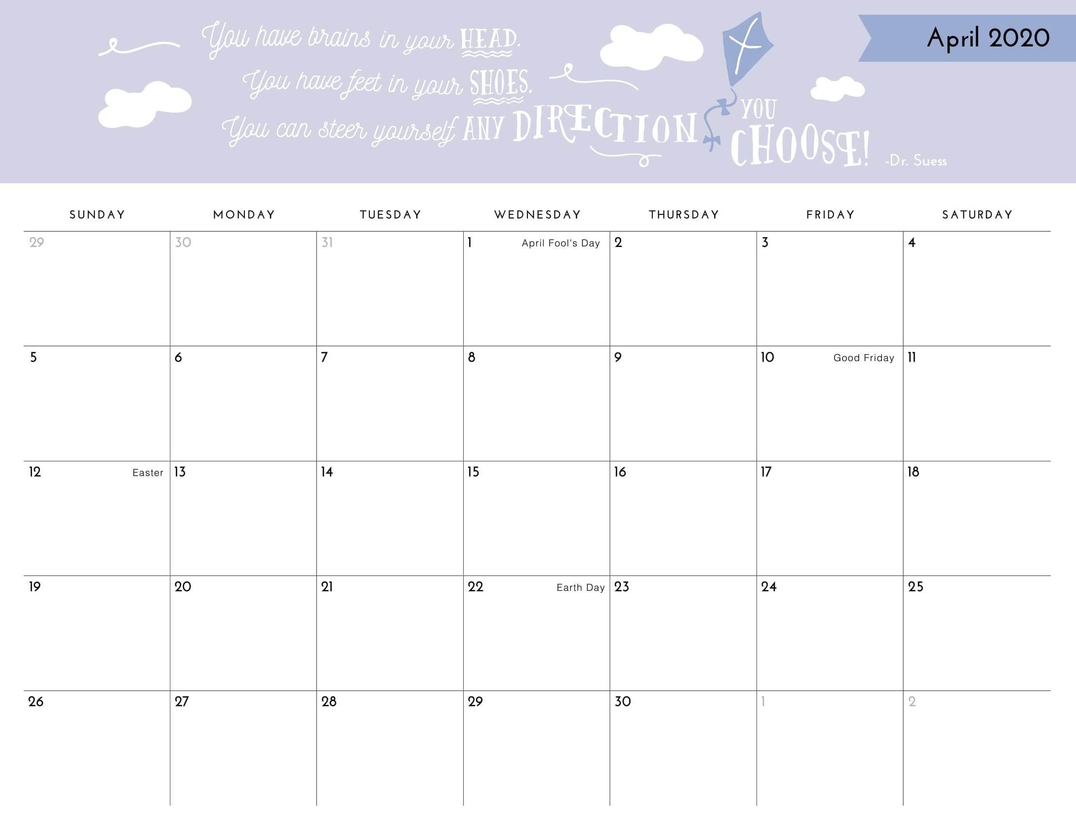 Catch Free Printable Calendars No Download 2020 | Calendar