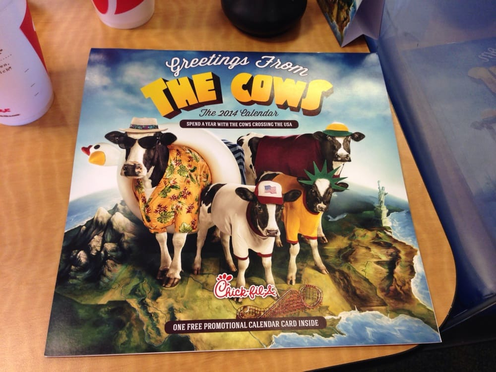 Chick-Fil-A Is Ditching Its Famous Cow Calendars, And