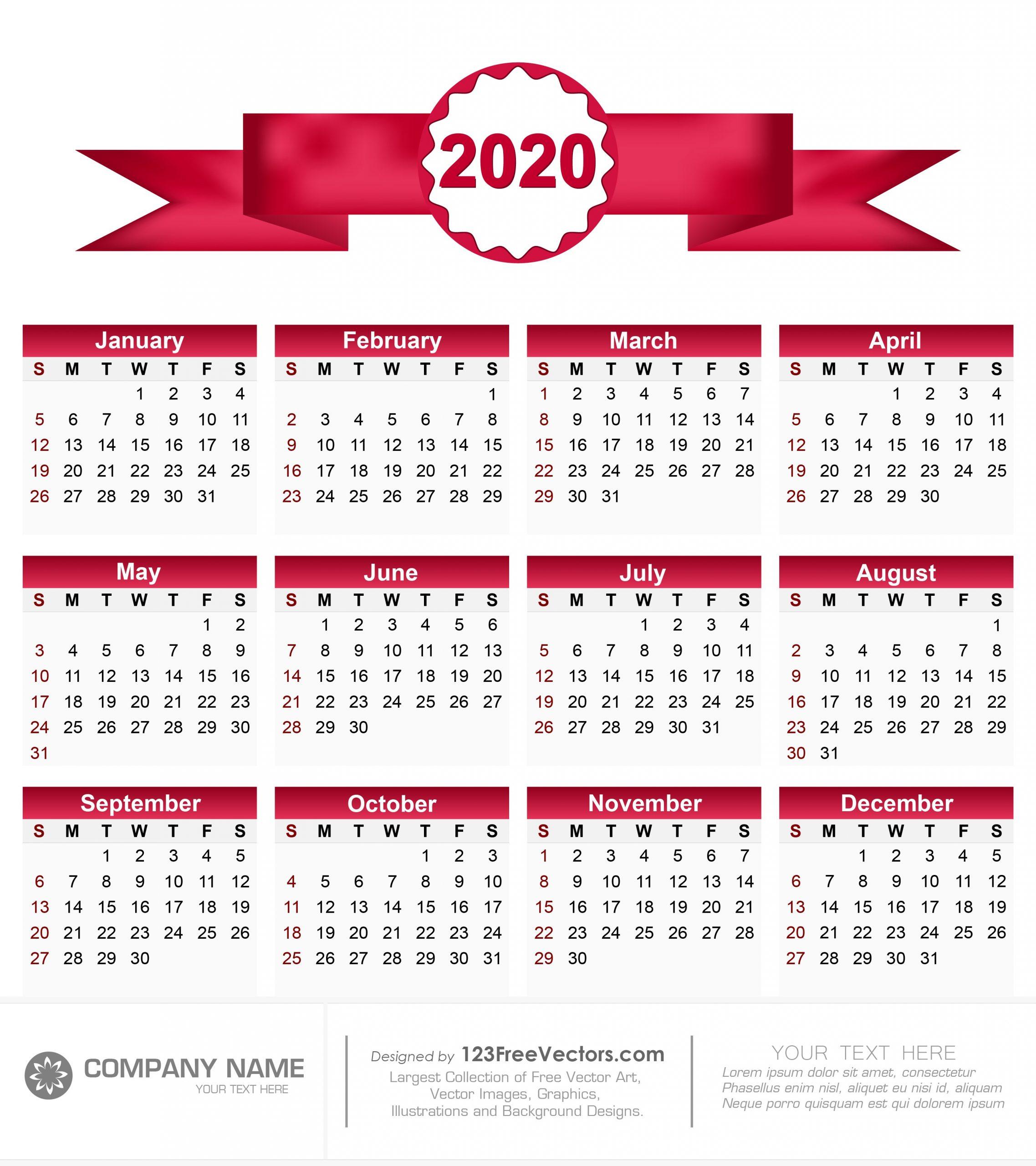 Collect Calendar 2020 Half Page   Calendar Printables Free