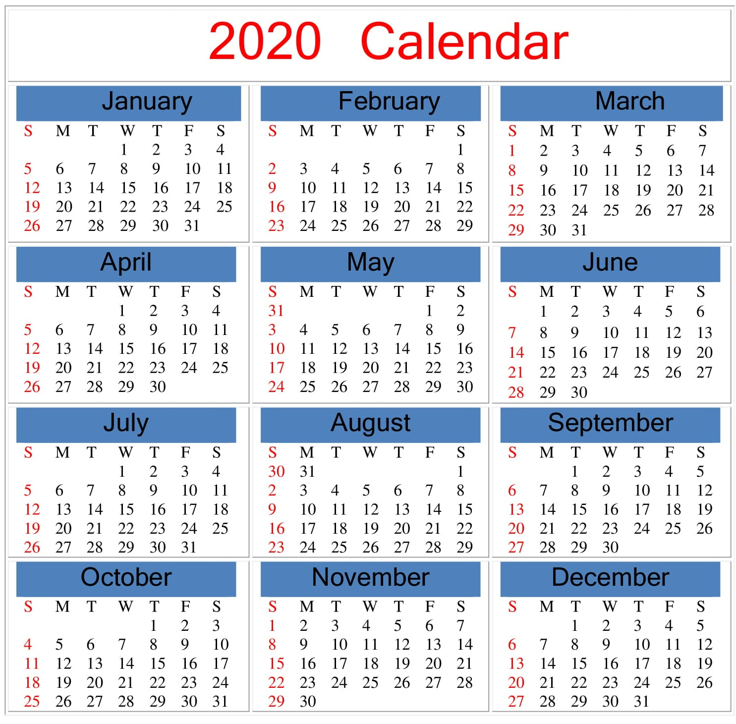Collect December 2020 Monthly Calendar Printable With
