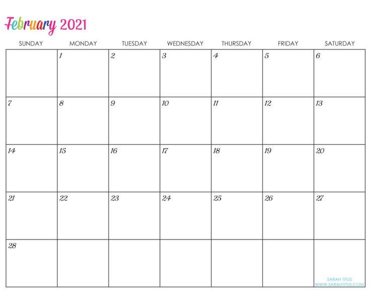 Custom Editable 2021 Free Printable Calendars | Calendar
