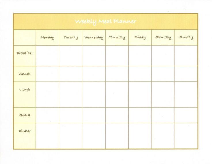 Diet Calendar Printable 45 Printable Weekly Meal Planner