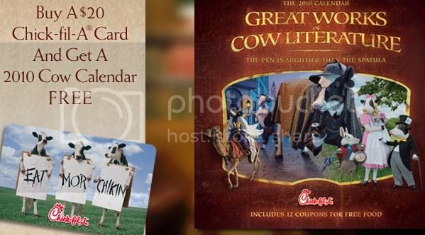 *Expired* Free Chick-Fil-A Calendar W/$20 Gift Card