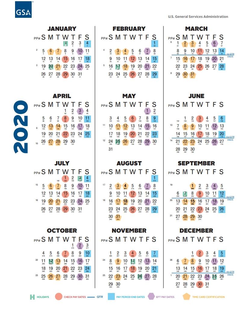 Federal Civilian Pay Calendar 2020 - Calendar Inspiration