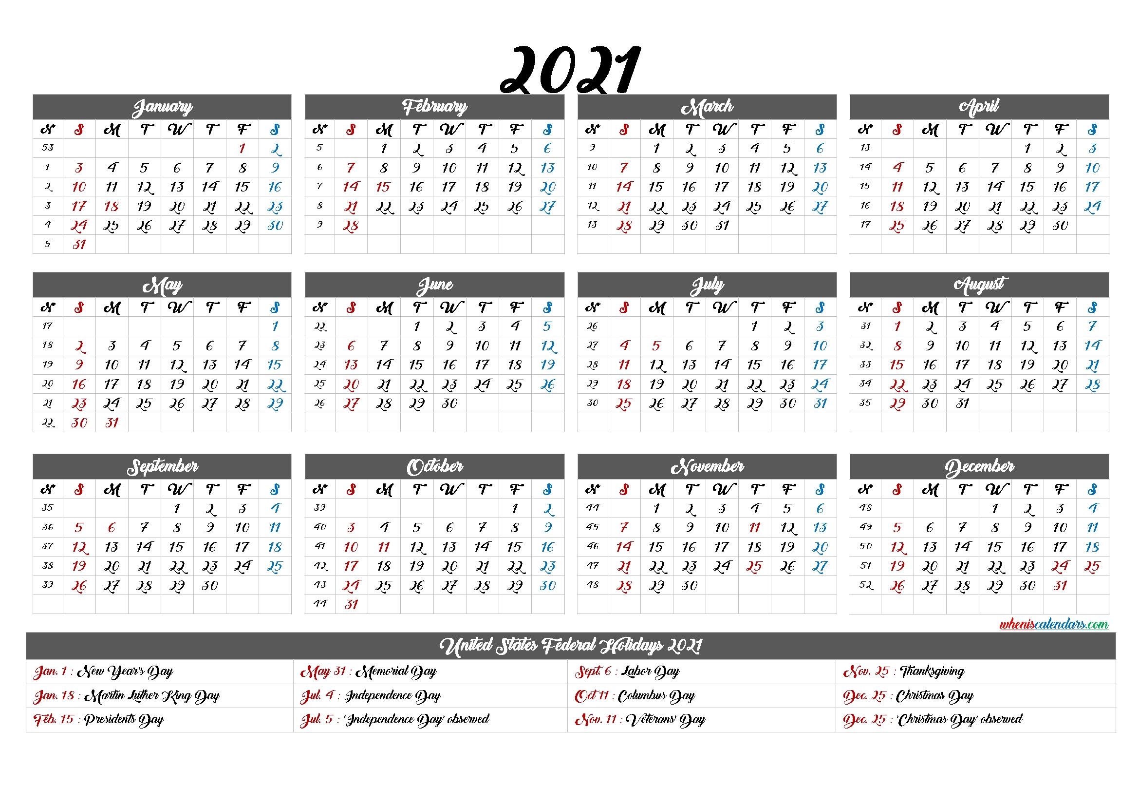 Fill In Printable Calendar 2021   Calendar Template Printable