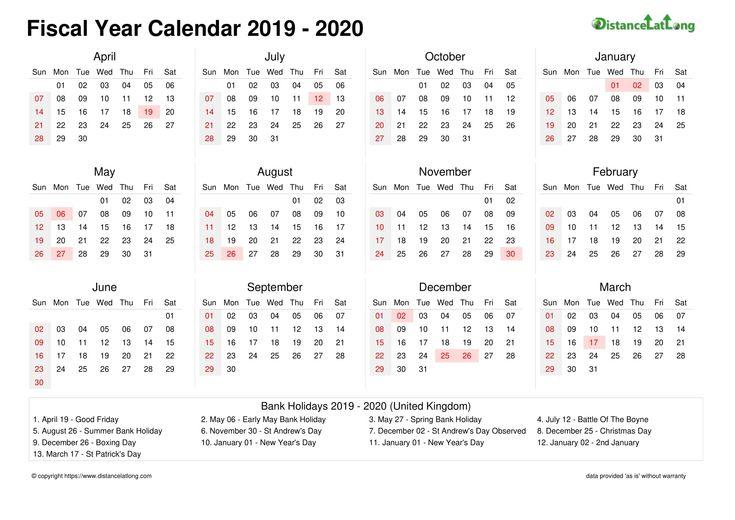 Financial Calendar 2019/2020 Week Number 25 | Calendar