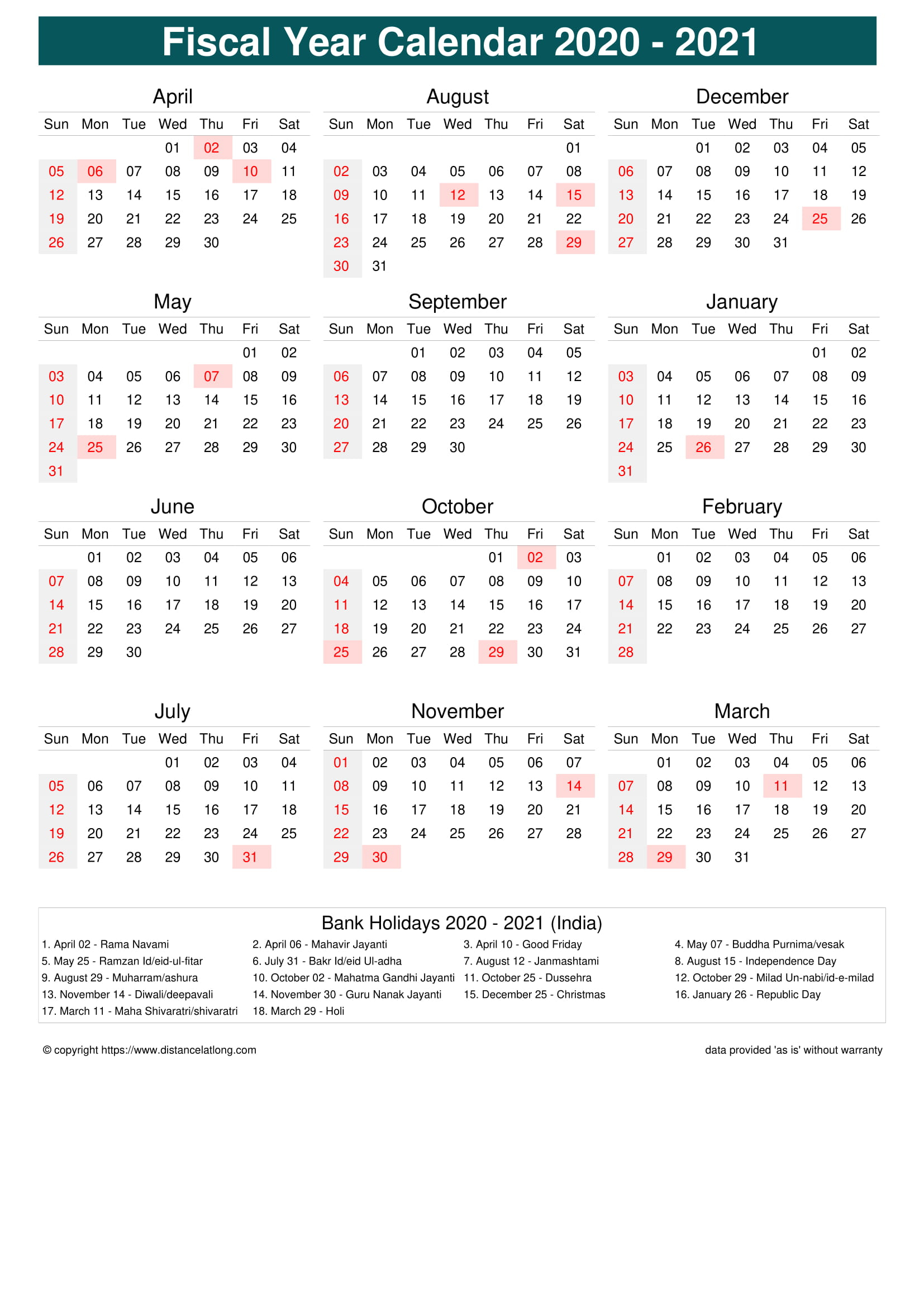 Fiscal Portrait Calendar Vertical Month Week Covered Line