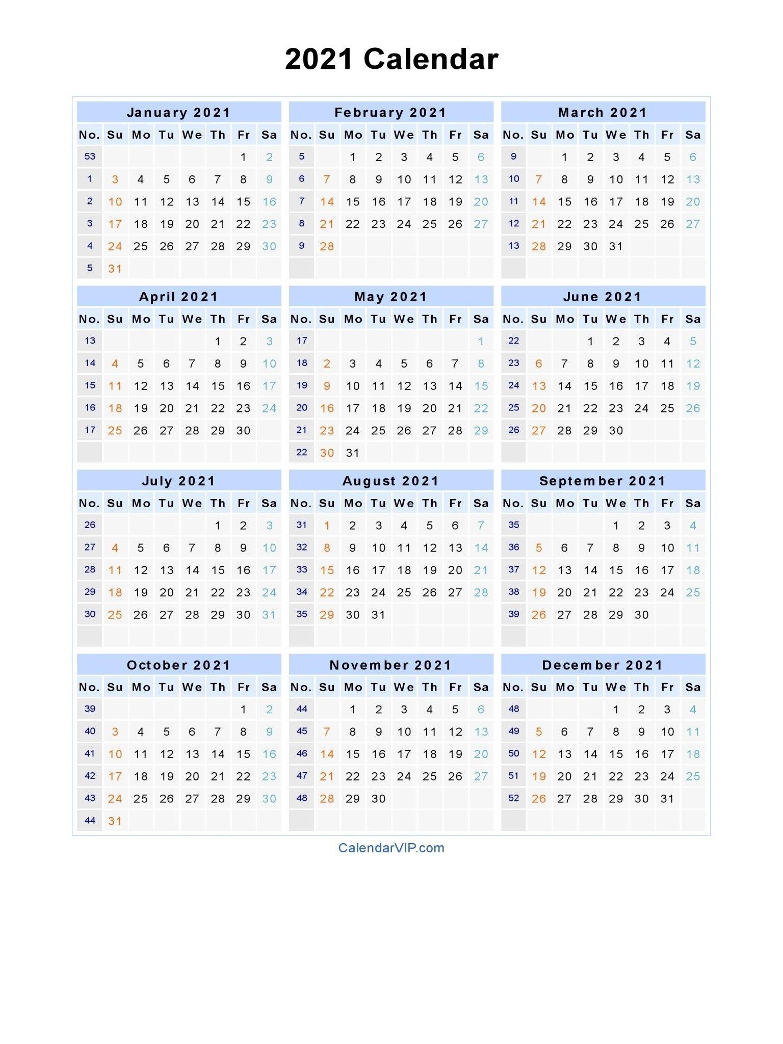 Fiscal Week Calendar 2021 2021 | Calendar Template 2021