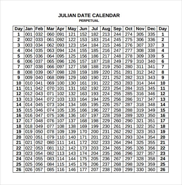 Free 10+ Sample Julian Calendar Templates In Pdf