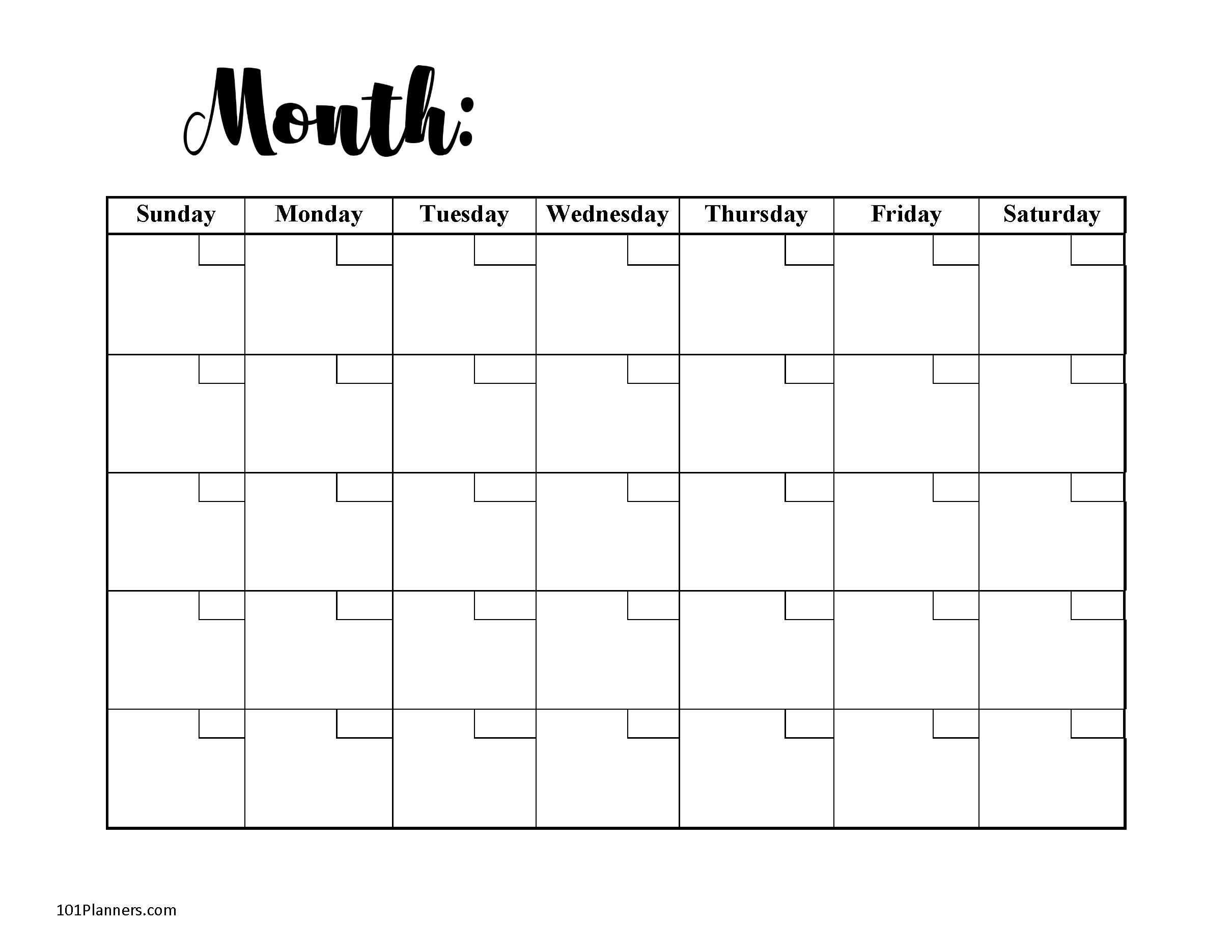 Free Monthly Calendar | Word, Pdf, Excel Or 101 Different