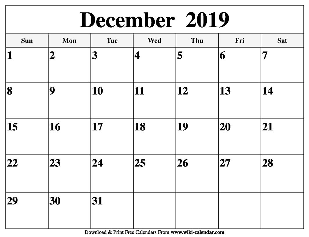 Free Printable Calendar No Download | Month Calendar Printable