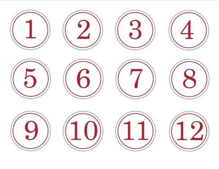 Free Printable Calendar Numbers 1-31 Pdf In 2020