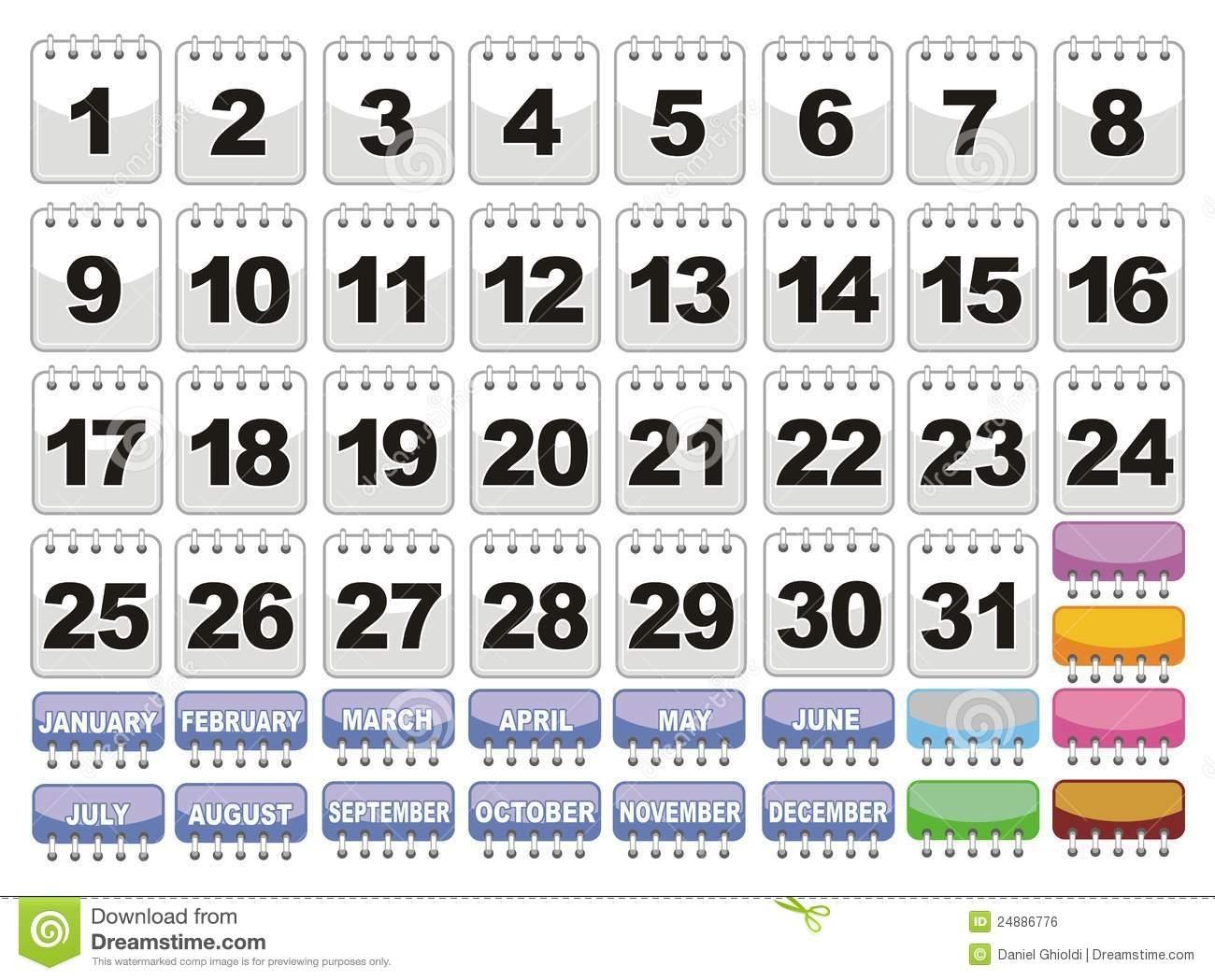 Free Printable Calendar Numbers 1-31 Pdf   Month Calendar