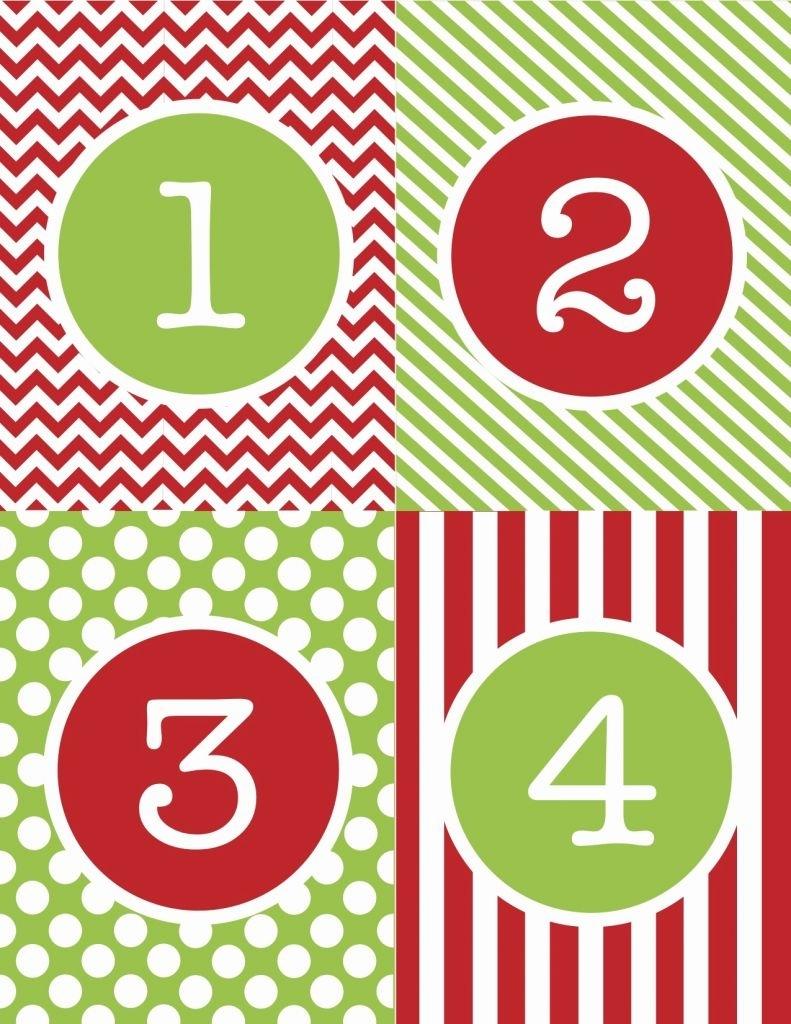 Free Printable Calendar Numbers 1-31   Ten Free Printable