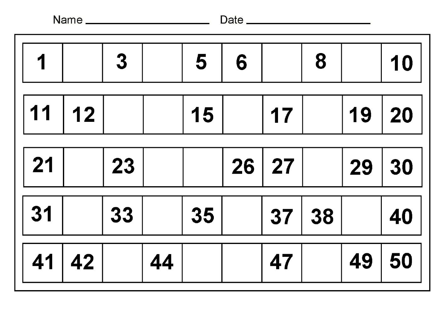 Free Printable Calendar Numbers 1 31 | Ten Free Printable