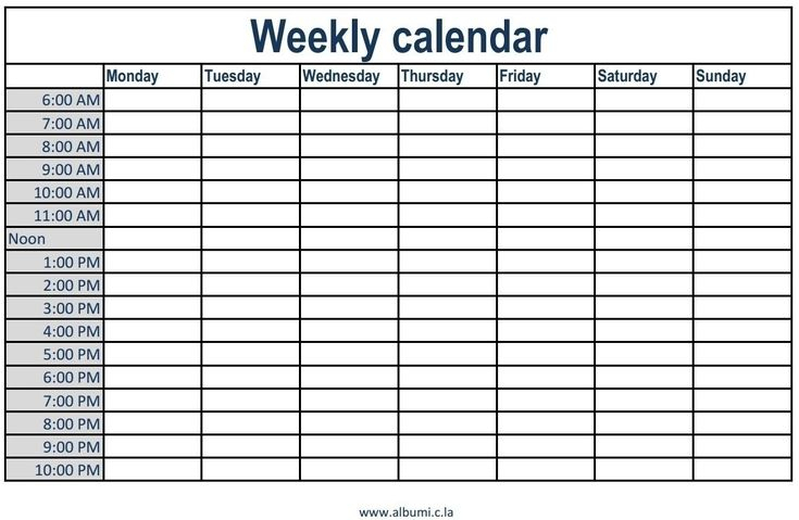 Free Printable Daily Calendar With Time Slots | Template