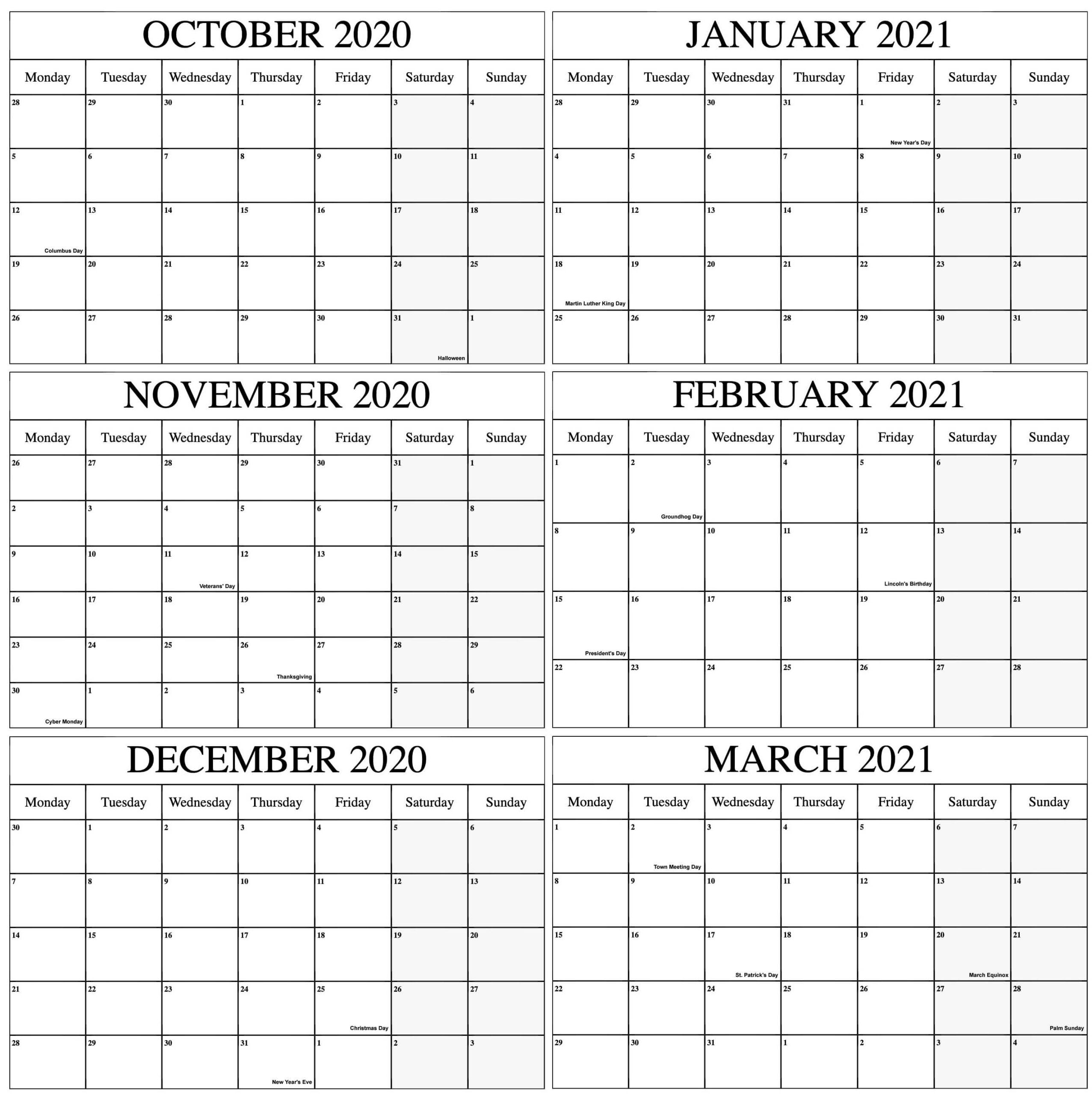 Free Printable Fill In Calendars 2021   Calendar