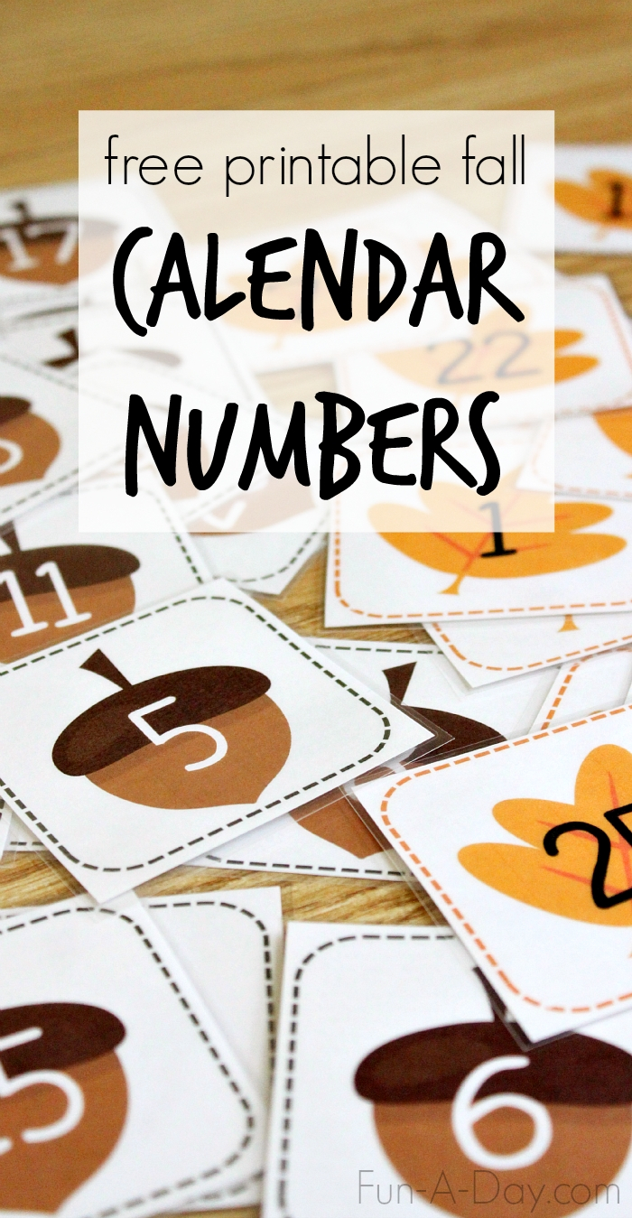 Free Printable Thanksgiving Calendar Numbers 1-31 | Month