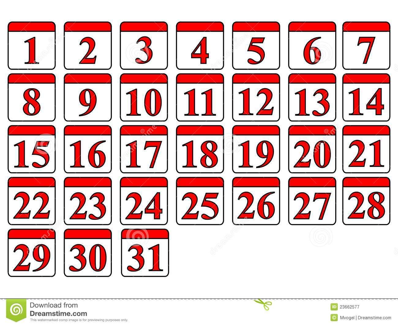 Generic Calendar Stock Vector. Illustration Of Date