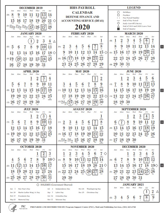 Gsa Pay Period Calendar 2021 : List Of Federal Holidays