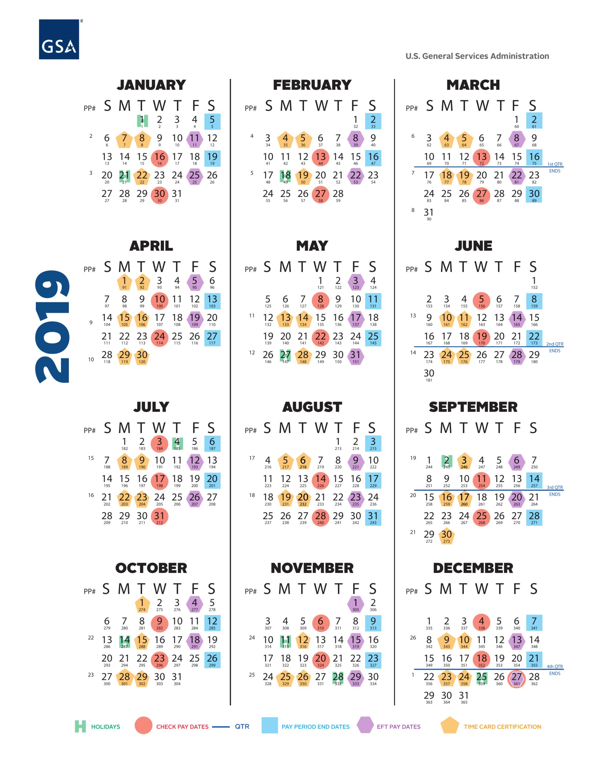 Gsa Payroll Calendar 2019 0