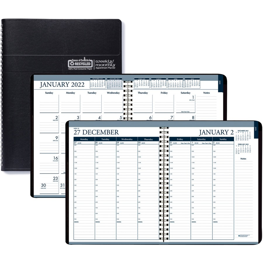 House Of Doolittle Tabbed Wirebound Weekly/Monthly Planner