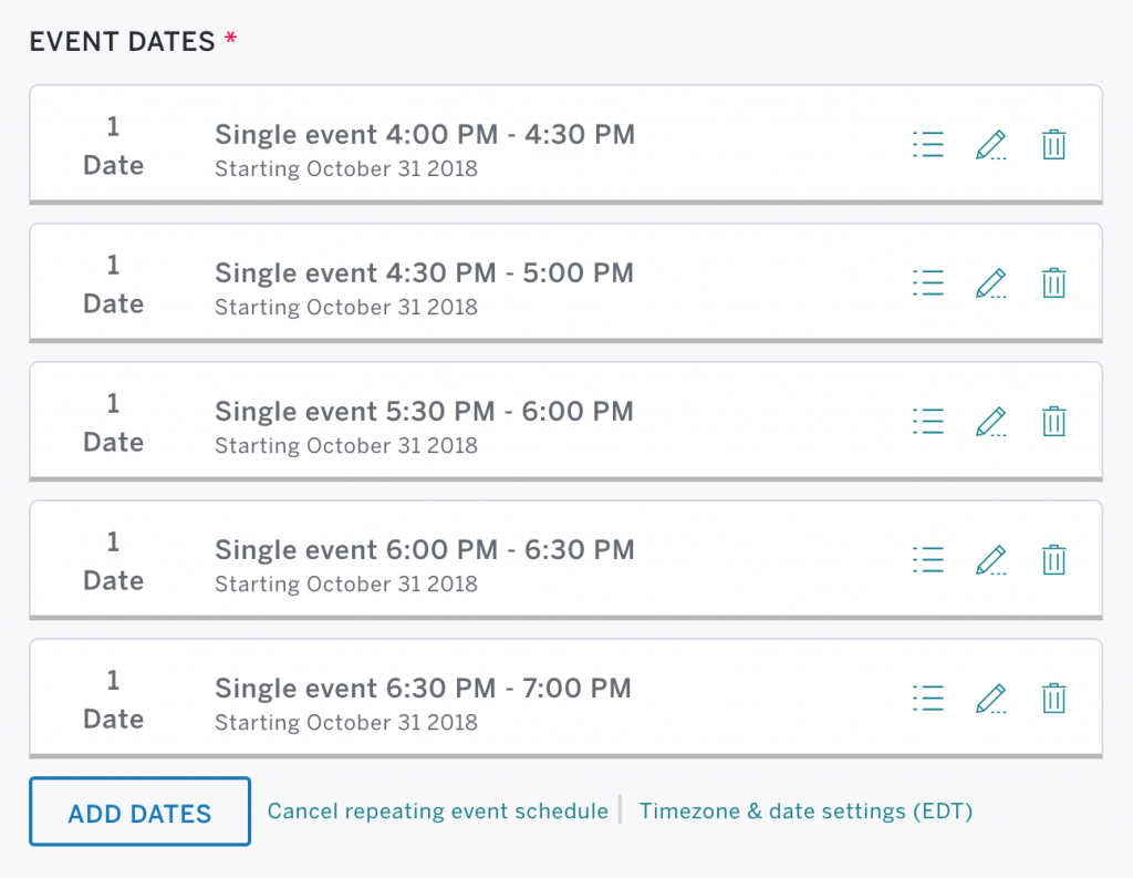 How To Manage Multiple Events With Eventbrite