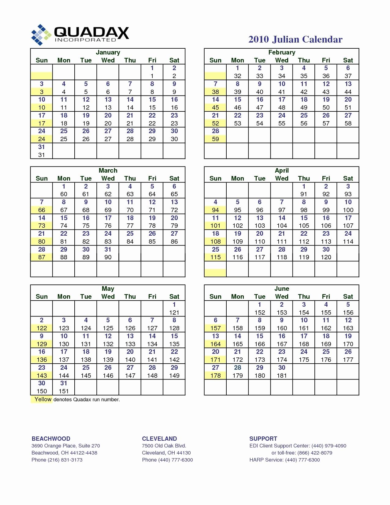 Julian Year Calendar 2015 Printable - Calendar Inspiration
